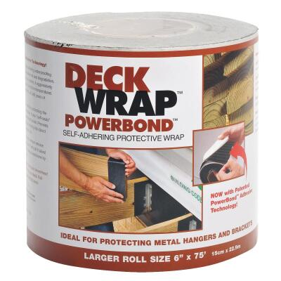 Power Bond DeckWrap 6 In. X 75 Ft. Deck Flash Barrier