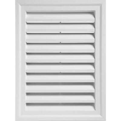 "Ply Gem 18"" x 24"" Rectangular White Gable Attic Vent"