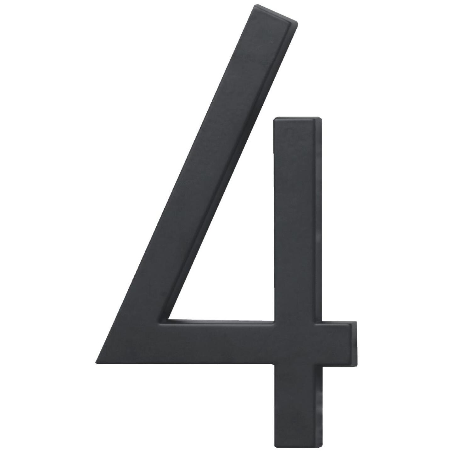 Hy-Ko Architectural Series 6 In. Satin Black House Number Four Image 1