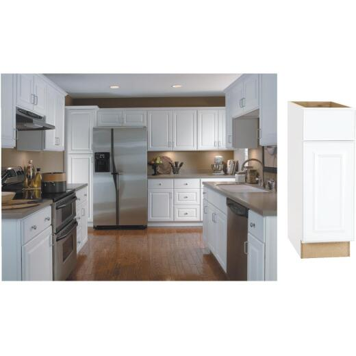 Continental Cabinets Hamilton 12 In. W x 34-1/2 In. H x 24 In. D Satin White Maple Base Kitchen Cabinet