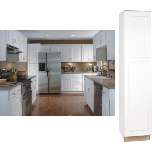 Continental Cabinets Hamilton 18 In. W x 84 In. H x 24 In. D Satin White Maple Pantry Cabinet