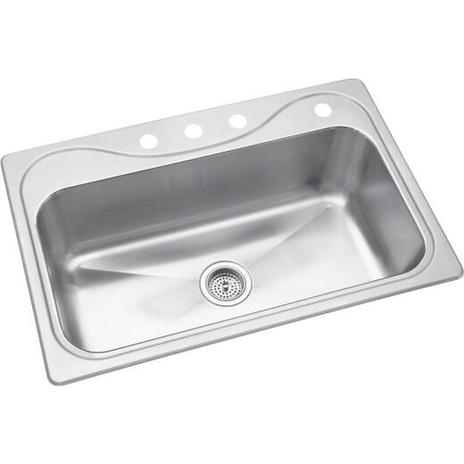 Sterling Southhaven Top-Mount Stainless Steel 33 In. x 22 In. Single Bowl Kitchen Sink