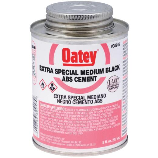 Oatey 8 Oz. Medium Bodied Black Extra Special ABS Cement