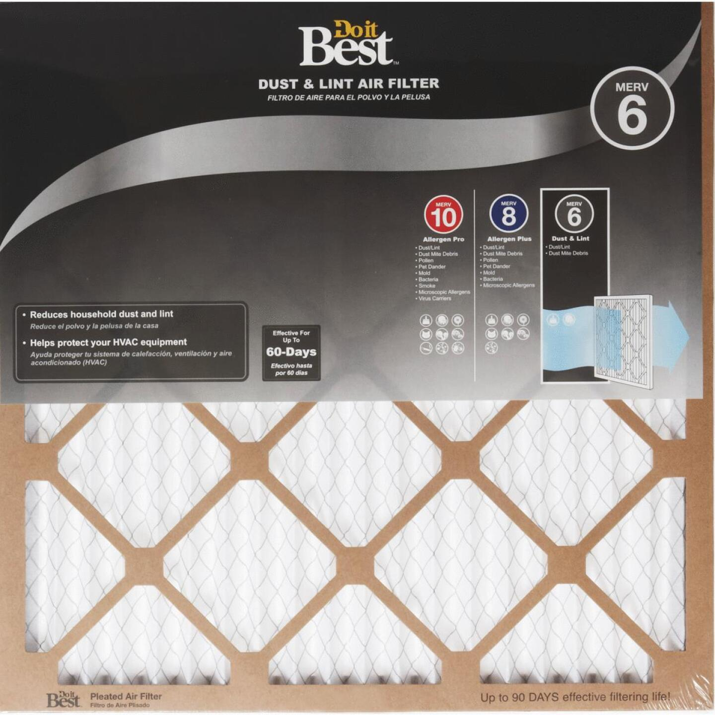 Do it Best 10 In. x 24 In. x 1 In. Dust & Lint MERV 6 Furnace Filter Image 1