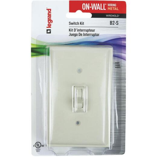 Wiremold On-Wall Ivory Metal 1 In. Switch Box Kit
