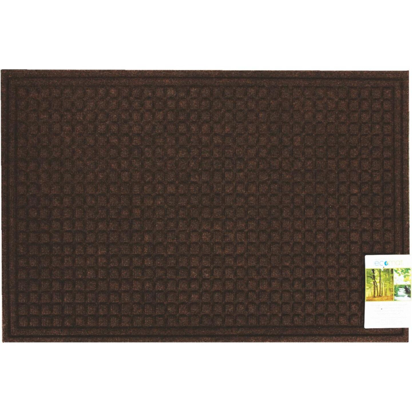 Apache Textures Walnut 24 In. x 36 In. Carpet/Recycled Rubber Door Mat Image 3