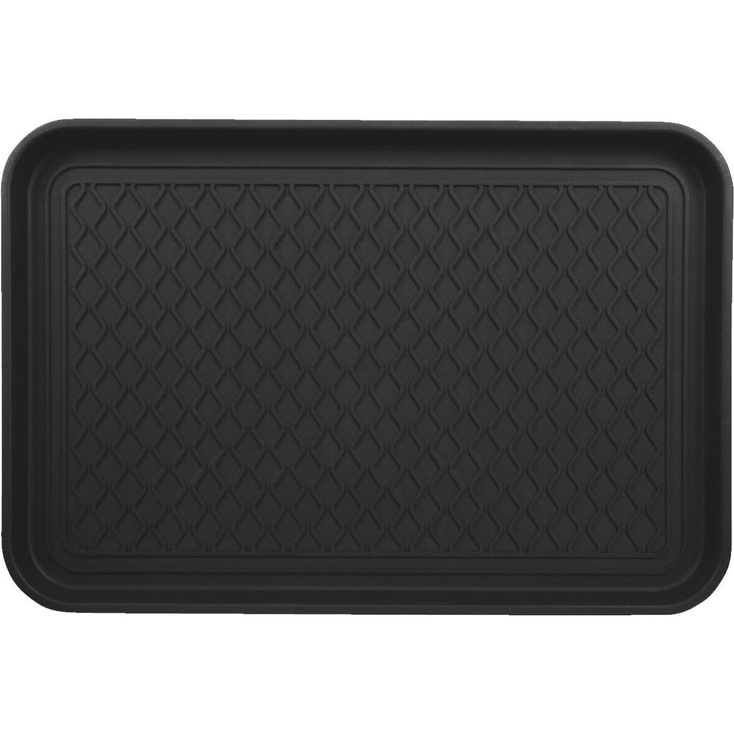 15.75 In. x 23.5 In. Black Recycled Plastic Rectangular Boot Tray Image 3