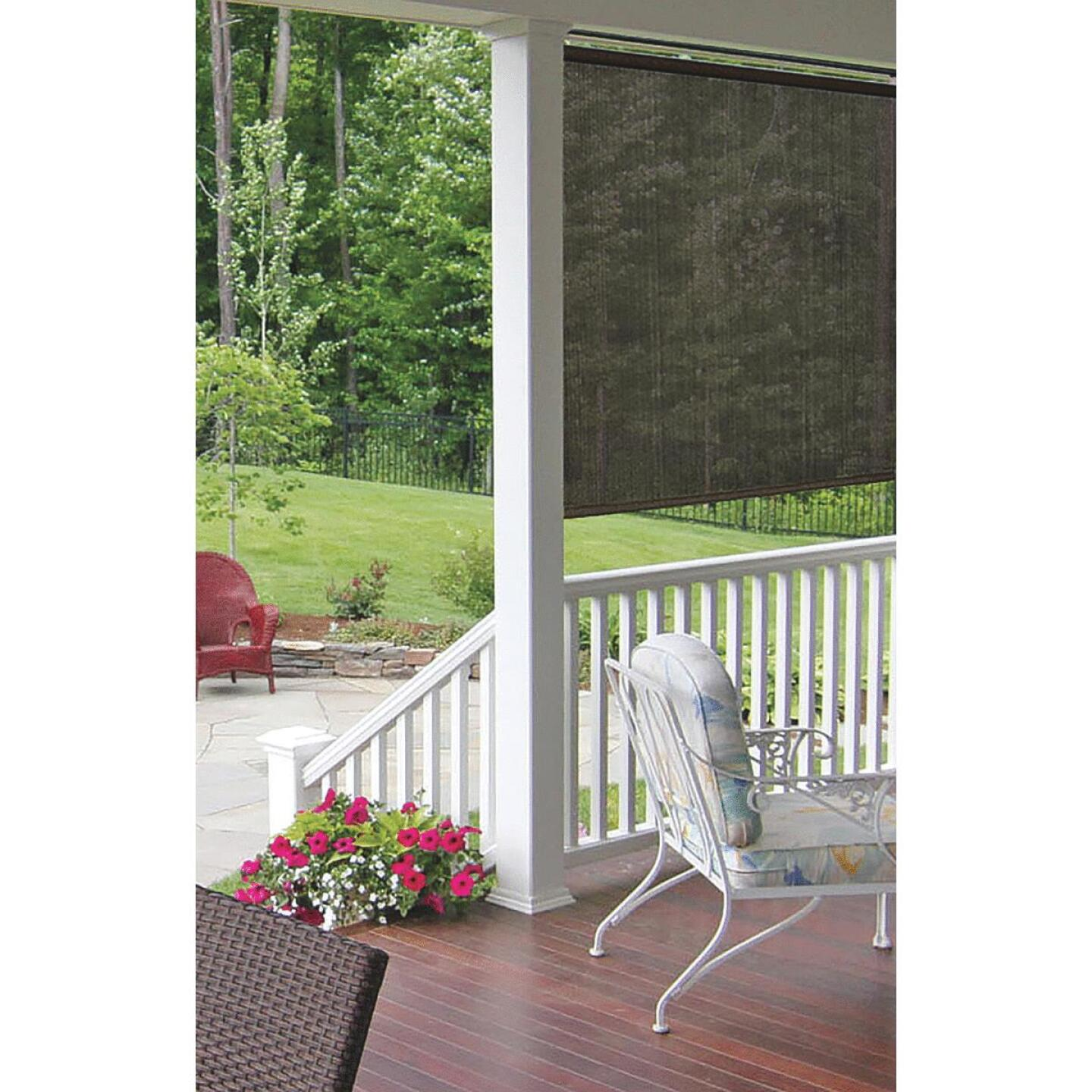 Home Impressions 36 In. x 72 In. Brown Fabric Indoor/Outdoor Cordless Roller Shade Image 2