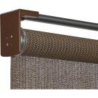 Home Impressions 36 In. x 72 In. Brown Fabric Indoor/Outdoor Cordless Roller Shade Image 3