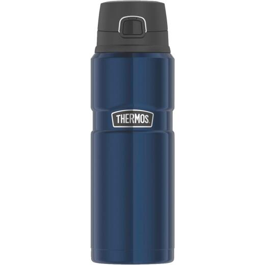 Thermos Stainless King 24 Oz. Midnight Blue Stainless Steel Drink Bottle