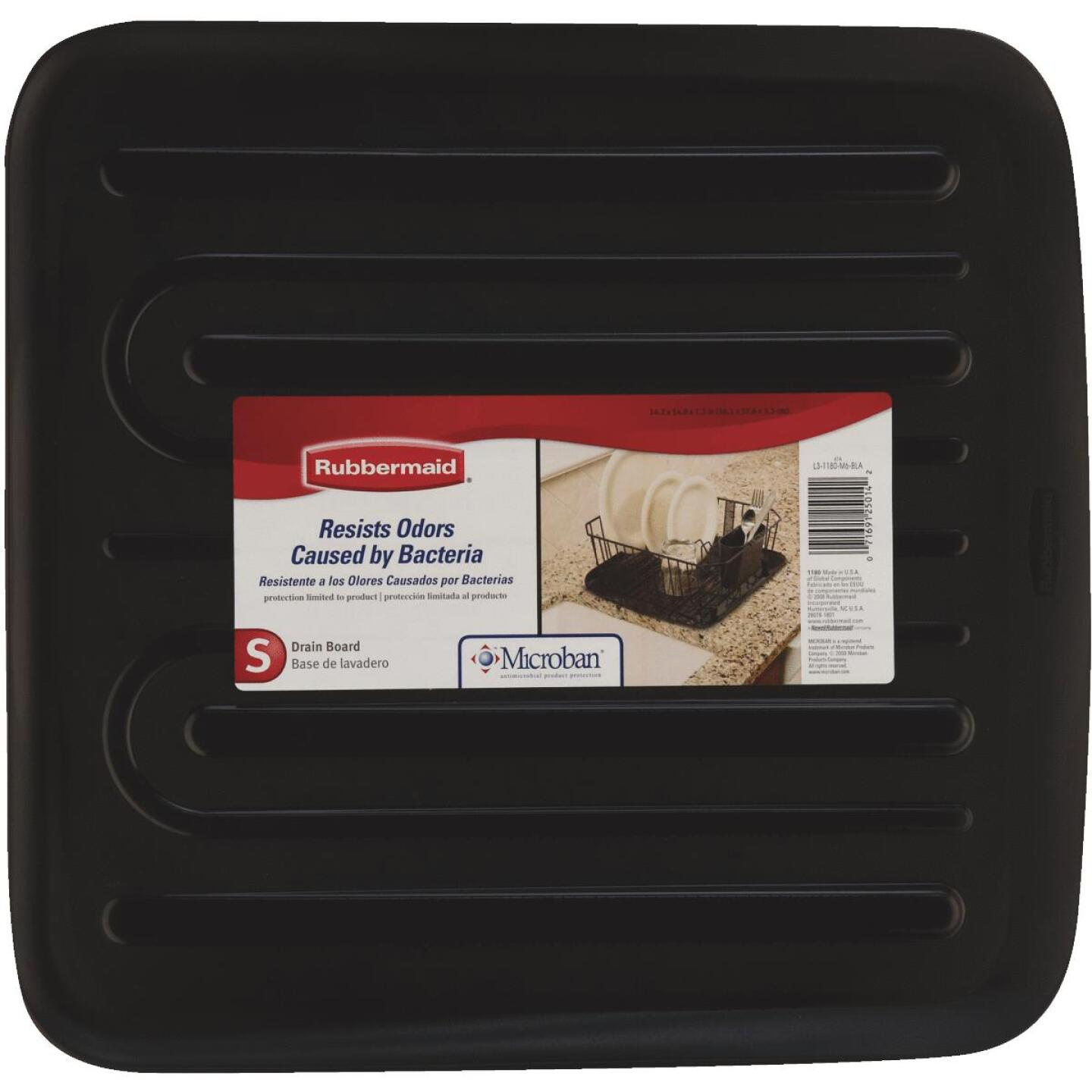 Rubbermaid 14.38 In. x 15.38 In. Black Sloped Drainer Tray Image 3