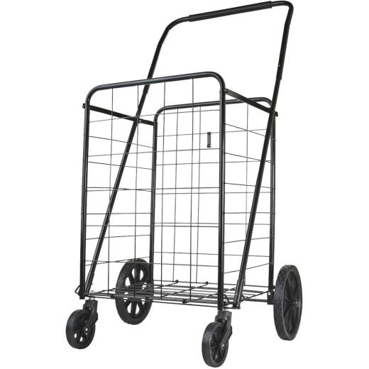 Metaltex Black 22.5 In. x 43 In. x 22 In. Heavy Duty Utility Cart