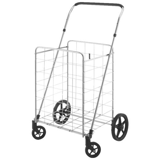 Whitmor Adjustable Handle Utility Shopping Cart