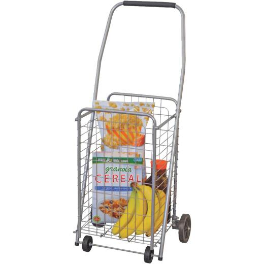 Helping Hand Pop 'N Shop 4-Wheel Silver Utility Cart