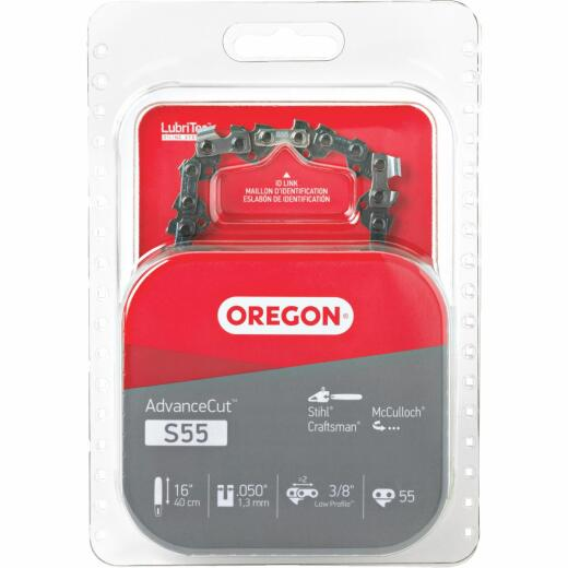 Oregon S55 16 In. Chainsaw Chain