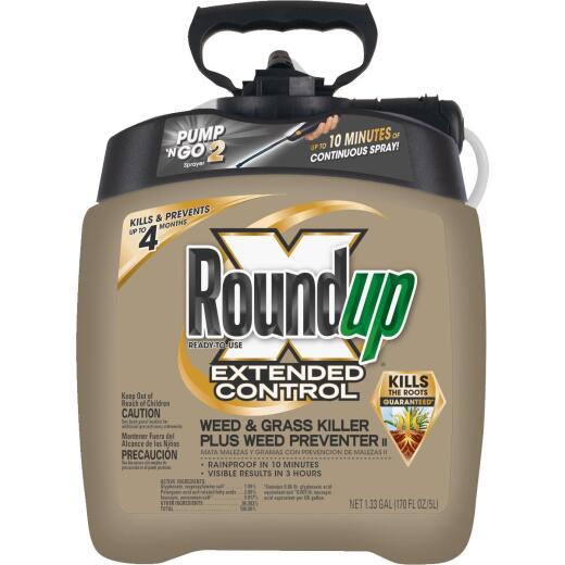 Roundup Extended Control 1.33 Gal. Ready To Use Wand Sprayer Weed & Grass Killer Plus Weed Preventer II