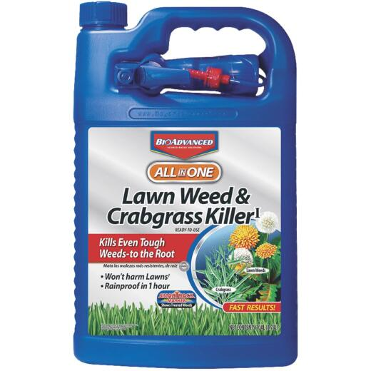 BioAdvanced All-in-1 1 Gal. Ready To Use Trigger Spray Crabgrass & Weed Killer