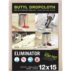 Trimaco Eliminator Butyl-Back Canvas 12 Ft. x 15 Ft. Heavy-Duty Drop Cloth Image 1