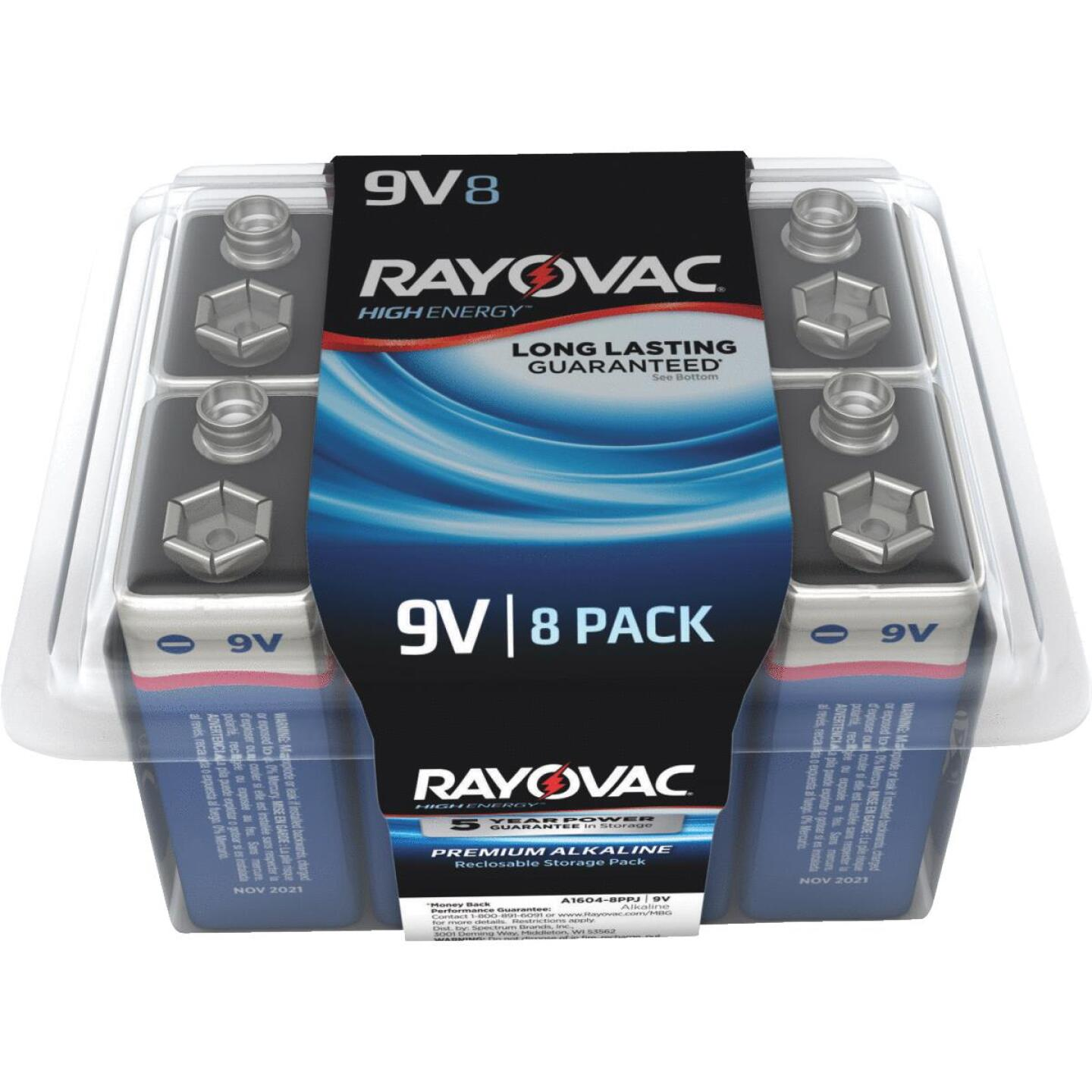 Rayovac High Energy 9V Alkaline Battery (8-Pack) Image 1
