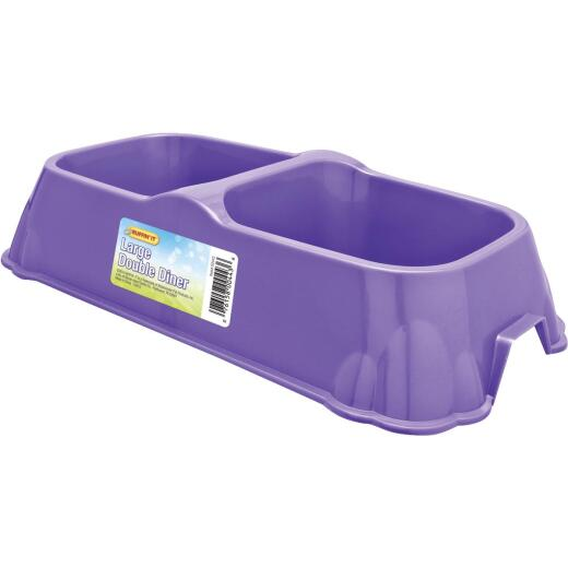 Westminster Pet Ruffin' it Plastic Large Double Pet Food Bowl