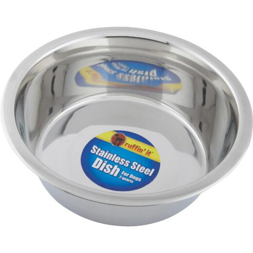 Westminster Pet Ruffin' it Stainless Steel Circular 2 Qt. Pet Food Bowl