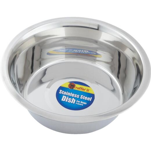 Westminster Pet Ruffin' it Stainless Steel Circular 3 Qt. Pet Food Bowl
