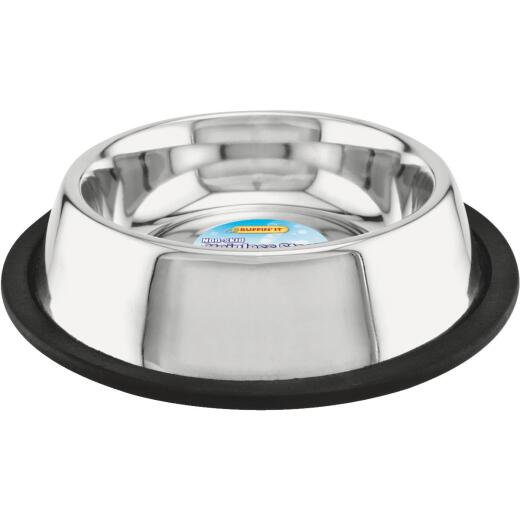Westminster Pet Ruffin' it Stainless Steel Circular 16 Oz. No Skid Pet Food Bowl