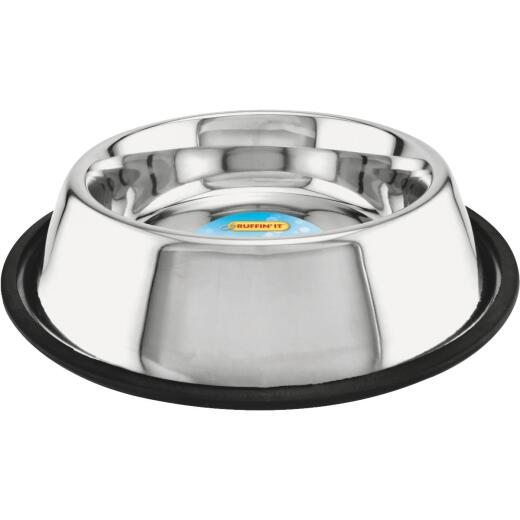 Westminster Pet Ruffin' it Stainless Steel Circular 32 Oz. No Skid Pet Food Bowl