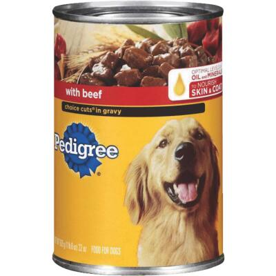 Pedigree Choice Cuts in Gravy with Beef Wet Dog Food, 22 Oz.