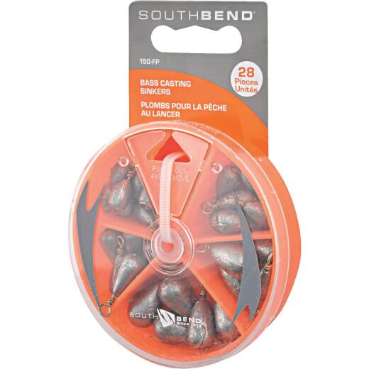 SouthBend 28-Piece Bass Casting Sinker Kit Assortment