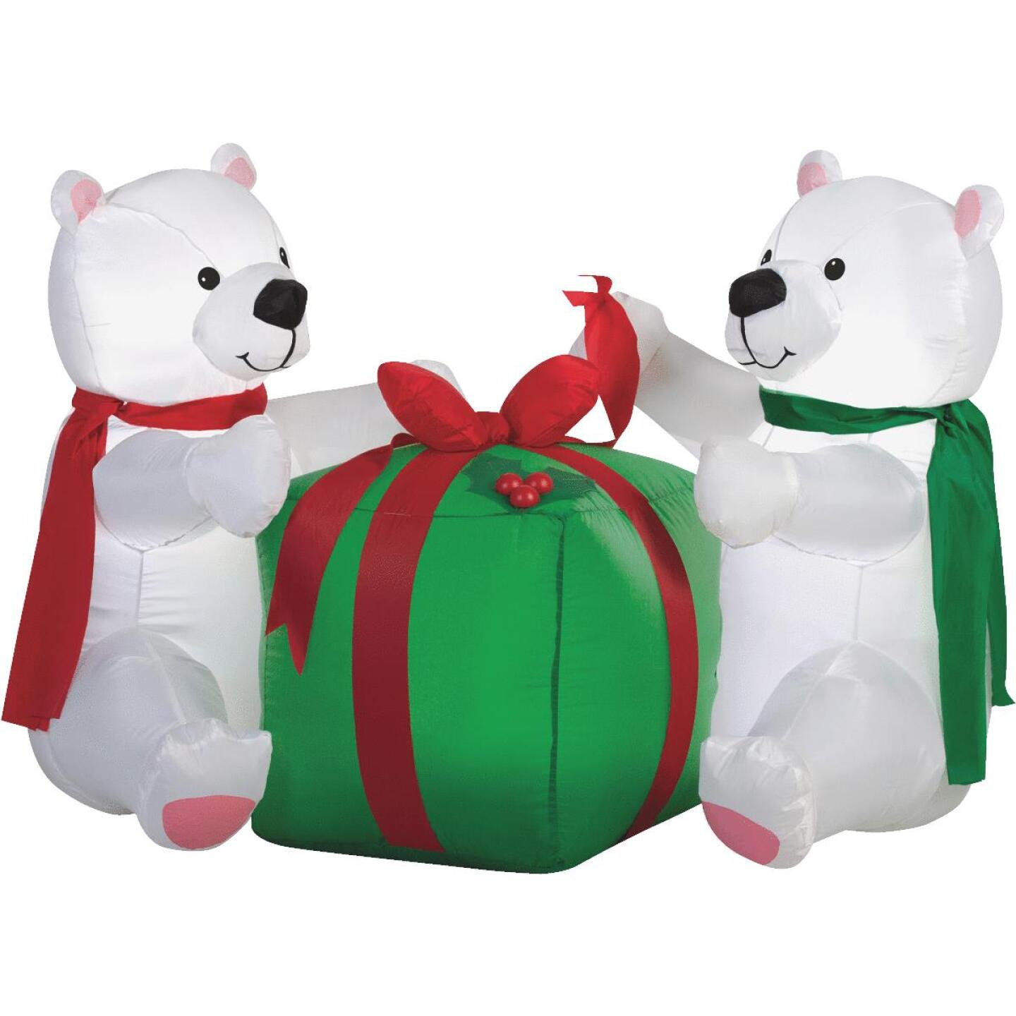 Gemmy 48 In. W. x 34.6 In. H. Airblown Inflatable Polar Bear Cubs Image 1