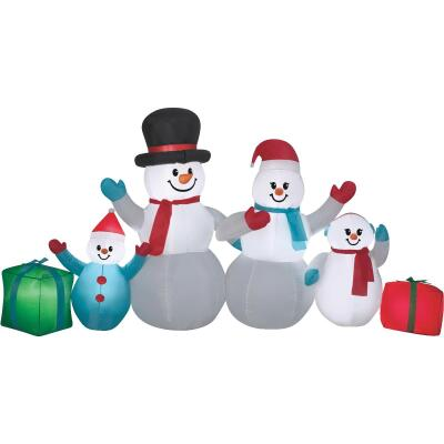 Gemmy 108 In. W. x 54 In. H. Airblown Inflatable Snowman Family