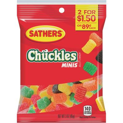 Sathers Assorted Fruit Flavors 3.0 Oz. Mini Chuckles