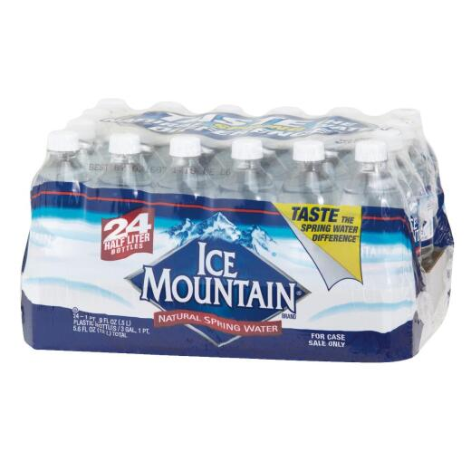 Ice Mountain 0.5 Liter Bottled Spring Water (24-Pack)