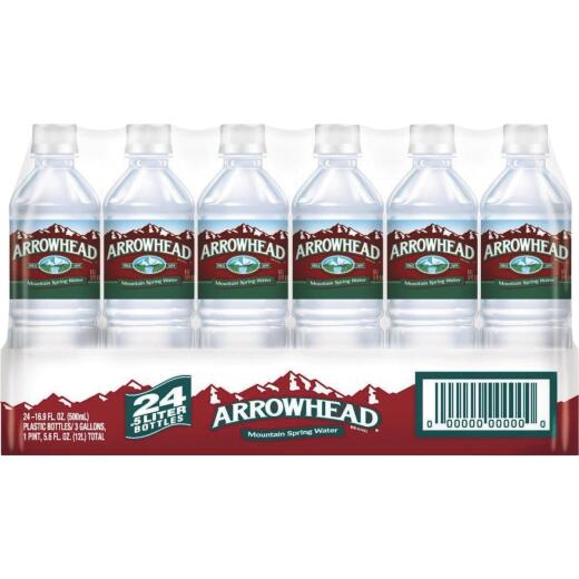 Arrowhead 0.5 Liter Bottled Spring Water (28-Pack)